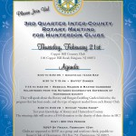 3rd Quarter Inter-County Rotary Meeting for Hunterdon Clubs (Thurs, 2/21 at 6pm)