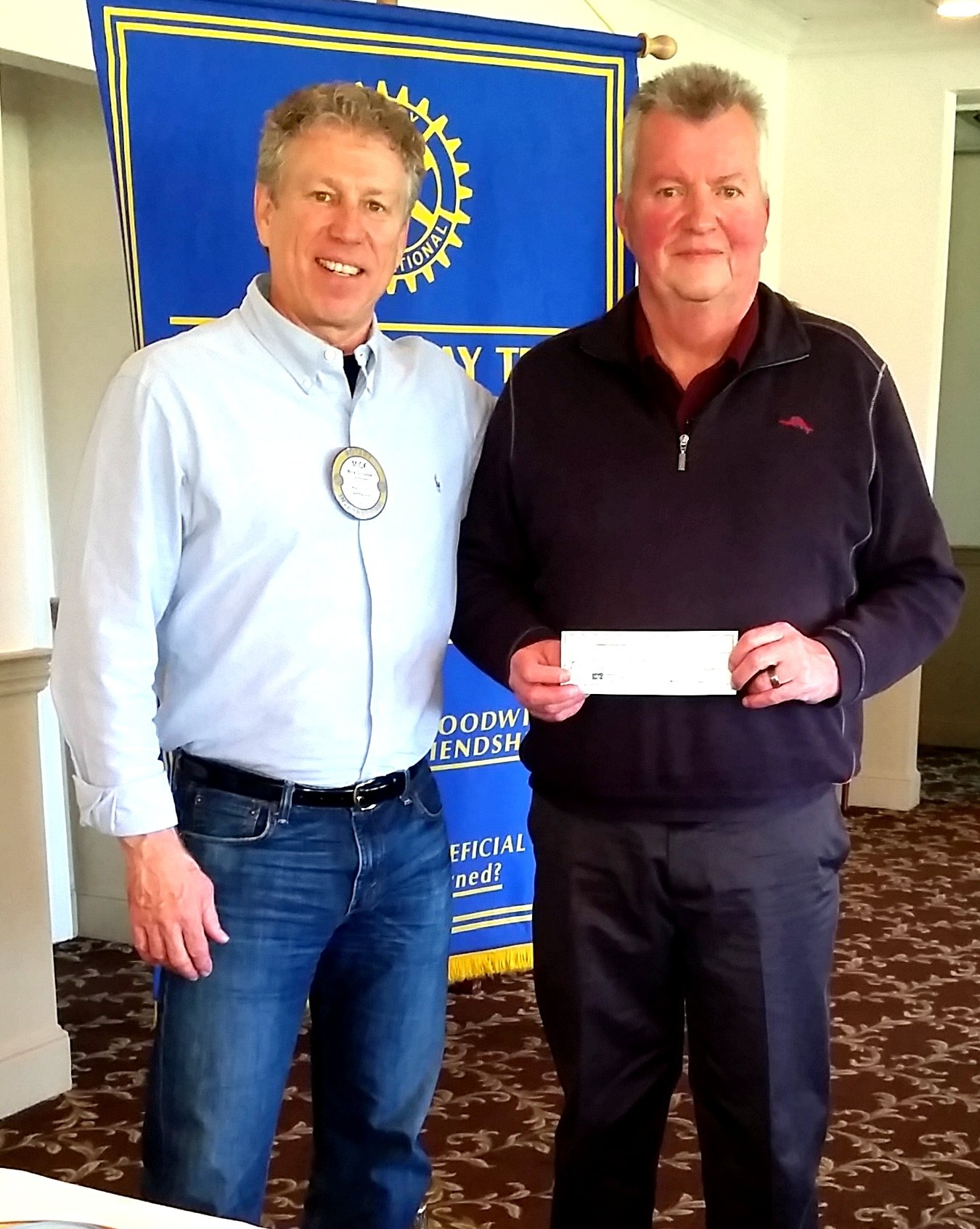 Hunterdon County Rotary Clubs donate $3600 to the Flemington Area Food Pantry (6/13/2016)